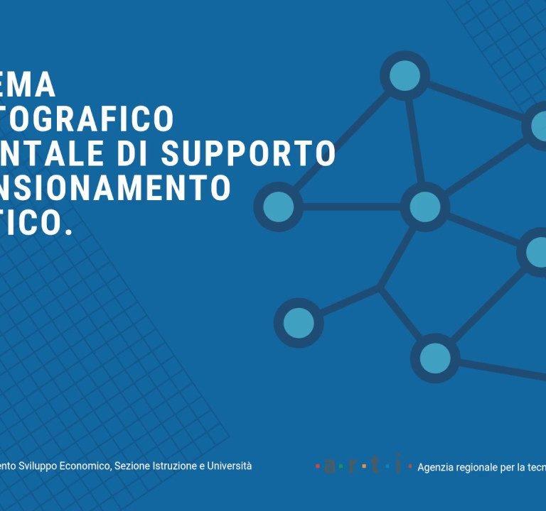 Rete scolastica regionale, online il portale geocartografico realizzato in collaborazione con ARTI